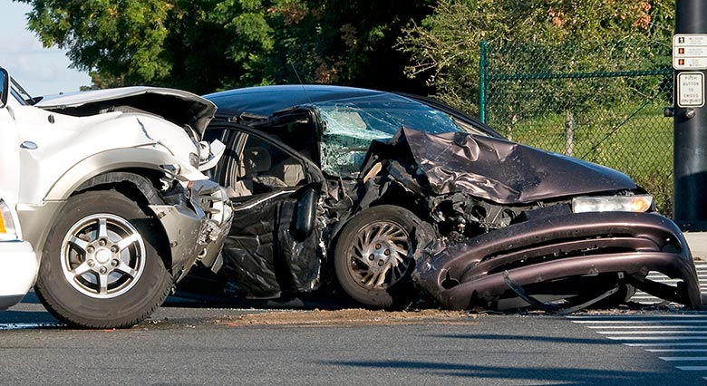 A Damaged or Destroyed Vehicle After An Accident